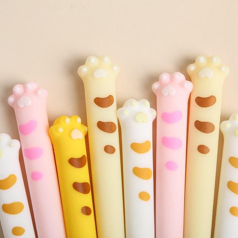 0,5 мм милые кошачьи когти Стиль Мягкая силиконовая гелевая ручка подпись ручка Эсколар... школьные канцелярские товары поощрительный подаро...