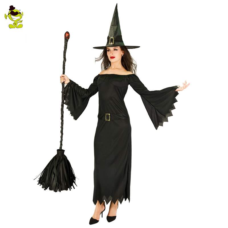 New Adult Witch Gothic Queen Costume Medieval Renaissance black Fancy Dress Halloween Cosplay Costume Outfit