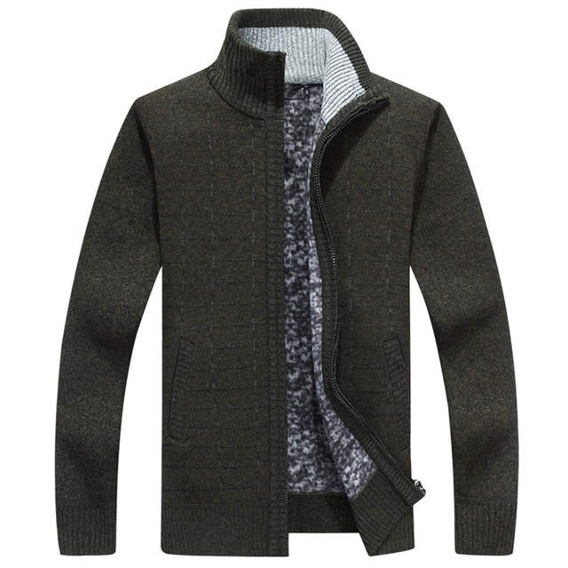 zapatos deportivos 108cb d40f1 US $25.98 50% OFF Autumn Winter Warm Cashmere Wool Mens Sweaters 2018  Casual Knitwear Cardigan hombre Plus Size M 3XL Thick Brand Sweater men on  ...