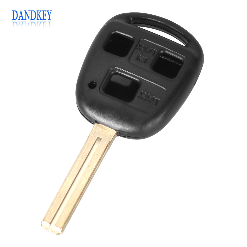 Dandkey Remote 3 Button Key Shell Blade 42mm For Lexus GX470 RX350 ES300 RX300 RX400h SC GS LS No Chip Case Cover With Logo цена