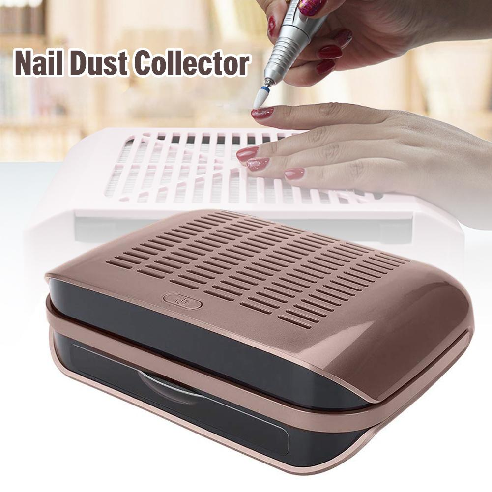 Nail Crumb Vacuum Cleaner 68W Strong Power Nail Suction Dust Collector Nail Art Salon Accessories Nails