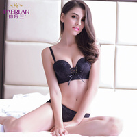 PAERLAN Push Up Anti skid Small Chest Strap B Underwear Back Closure Convertible Stra Special Strapless Dress Contact Female Bra