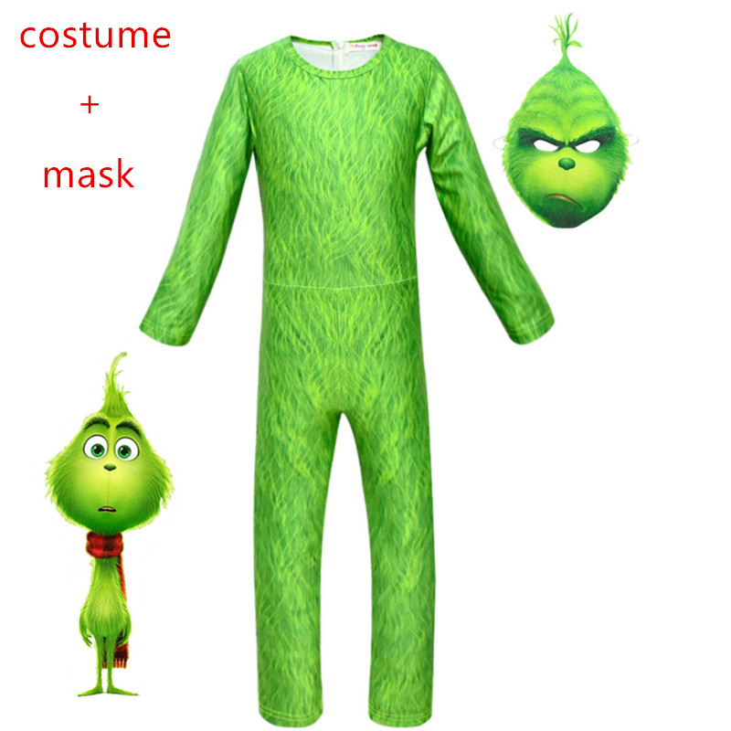 Tovar The Grinch Kids Cosplay Costume Carnival Party Halloween