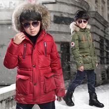 ใหม่เด็กทารกฤดูหนาว Coat 6 ถึง 14 ปี Hooded เด็ก Patchwork ลงเด็กทารกฤดูหนาวเสื้อเด็กอบอุ่น outerwear สวนสาธารณะ