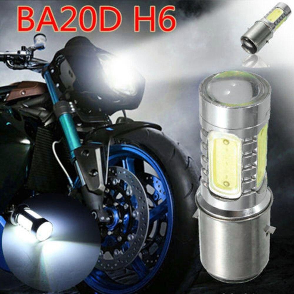 Miumiu 12 V BA20D H6 4 COB LED Weißes Scheinwerferlampe Licht Für Motorrad Bike Moped ATV Neue