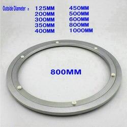 HQ H8 diámetro exterior 800 MM (32 pulgadas) silencioso y liso de aluminio sólido Lazy Susan bandeja giratoria mesa de comedor