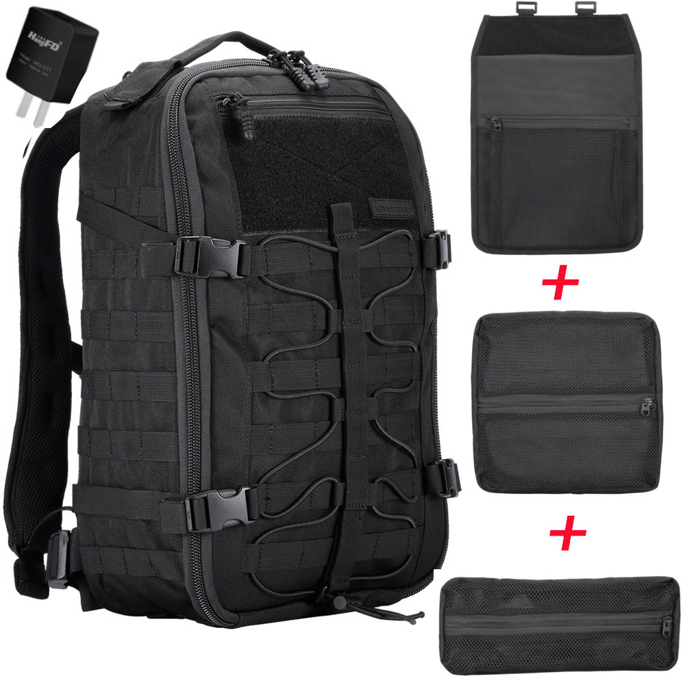 NITECORE BP25 Outdoor Multi-purpose Backpack 25L Wear-proof 1000D Nylon Tools Bag 4 Side MOLLE System for Modules Gear Equipment