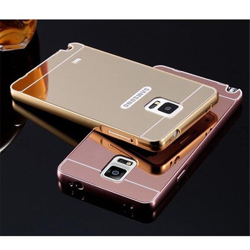 ba9aa4f7956 Luxo subiu espelho de ouro de volta capa para samsung note 4 casos para  samsung galaxy note 4 casos de alumínio + acrílico N910 em de no AliExpress. com ...