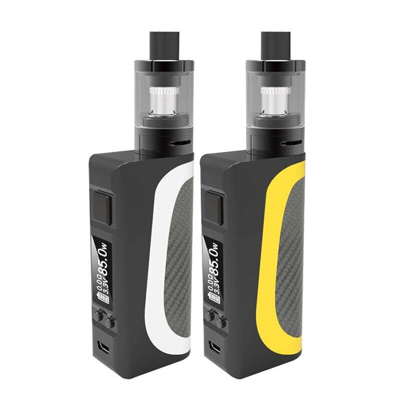 85 w LCD Écran Vaporisateur Vaporisateur Électronique E Cigarette Intégré 2200 mah Batterie Grande Capacité Énorme Fumée