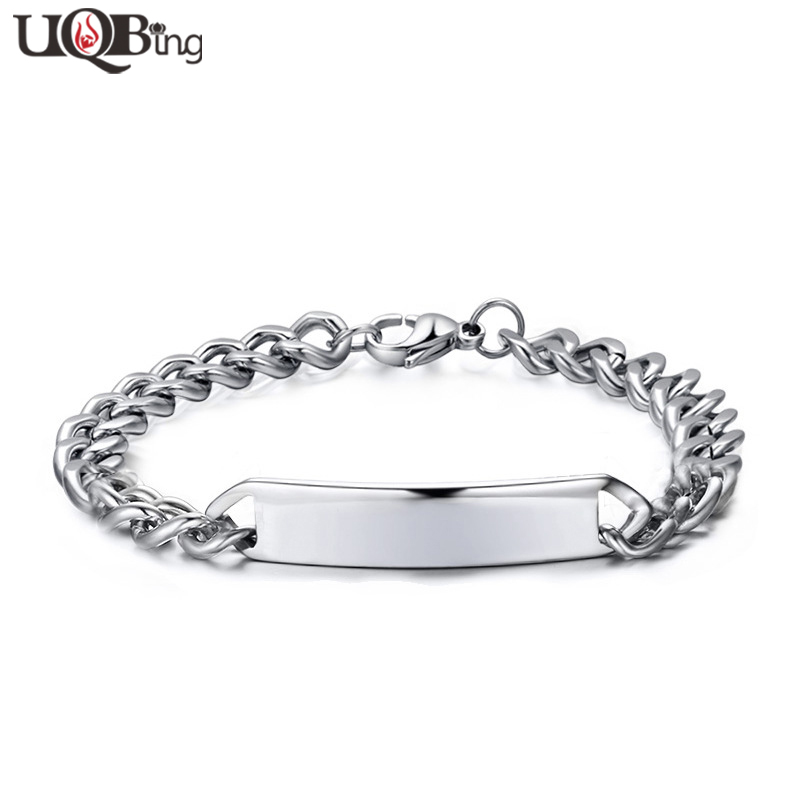 new fashion stainless steel bend charm bracelets for men