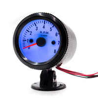 """CNSPEED 2 """"52MM 12V Auto Auto Tachometer-lehre 0-8000RPM Mechanische Geschwindigkeit Meter Blaue LED mit Manometer Pod Halter Auto RPM YC100016"""
