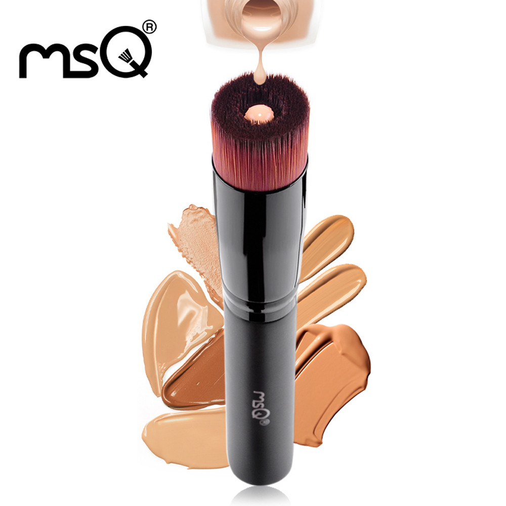 MSQ 1PCS New Pro Brand Multifunction Makeup Brush Facial Beauty Liquid Foundation Powder Brush Wood Handle Makeup Beauty Tool