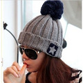 2017 Female and male  Beanie Bonnet Autumn And Winter Knitted Cap  Patchwork  Color Warm Fashion Special Casual  Comfortable