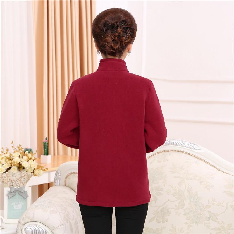 d3f0fa1fbae QAZXSW New Middle age Women Plus Size Fleece Coat Autunm Winter Jacket  Woolen Long Cashmere Coats Cardigan Jacket Elegant YX8834-in Basic Jackets  from ...