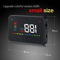 A200 OBD Hud OBD2 Head Up Display Car Speedometer Windshield Projector Over Speed/Voltage/Water/fatigue driving Alarm