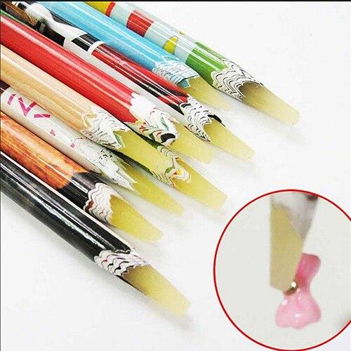 1pc Professional Rhinestone Picker Pencil Adhesive Nail Art Diy