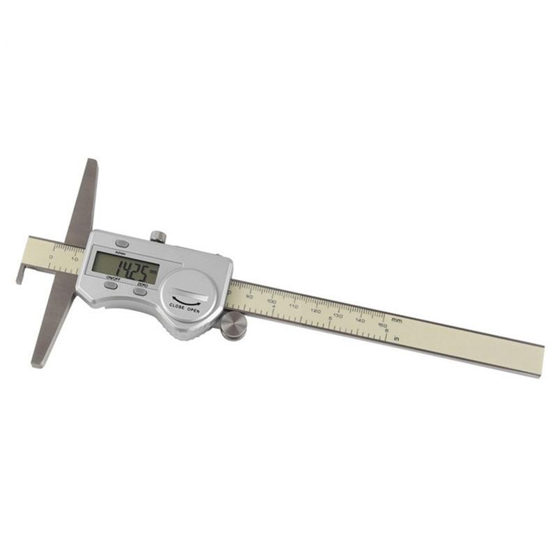 Digital Vernier Caliper 150/200/300mm Digital depth caliper Stainless Steel Electronic Caliper Micrometer Depth Measuring Tools