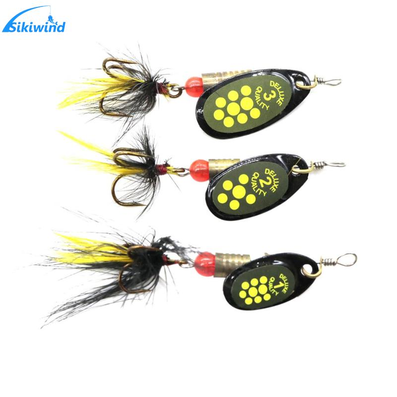 Sequin Spoon Wobble Hook Fishing Lures Spinner Baits Fishing Baits Swimbait Fishing Tackle Accessories fishing baits with hook color assorted 5 pack