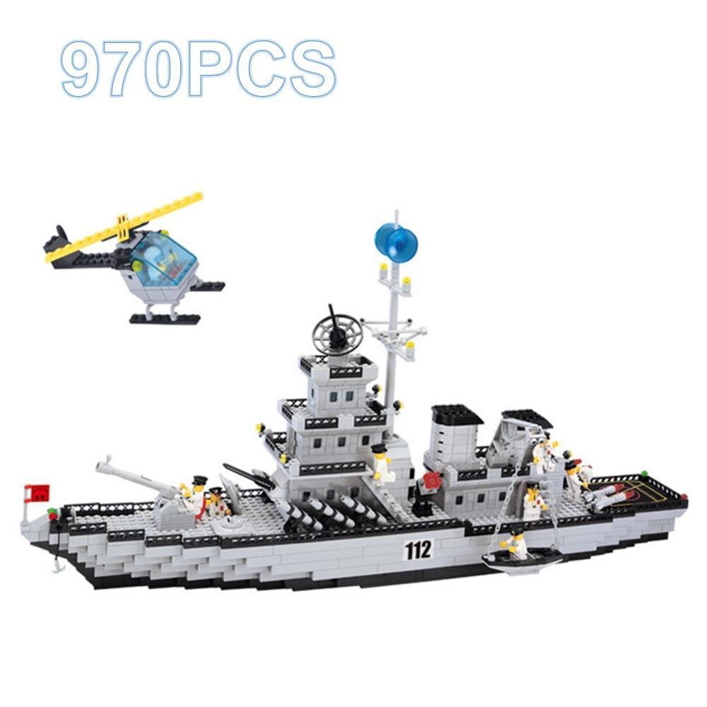 970 pièces assembler bateau de croisière modèle navire de guerre cuirassé Compatible Legoed Technic blocs de construction jouets éducatifs pour enfants