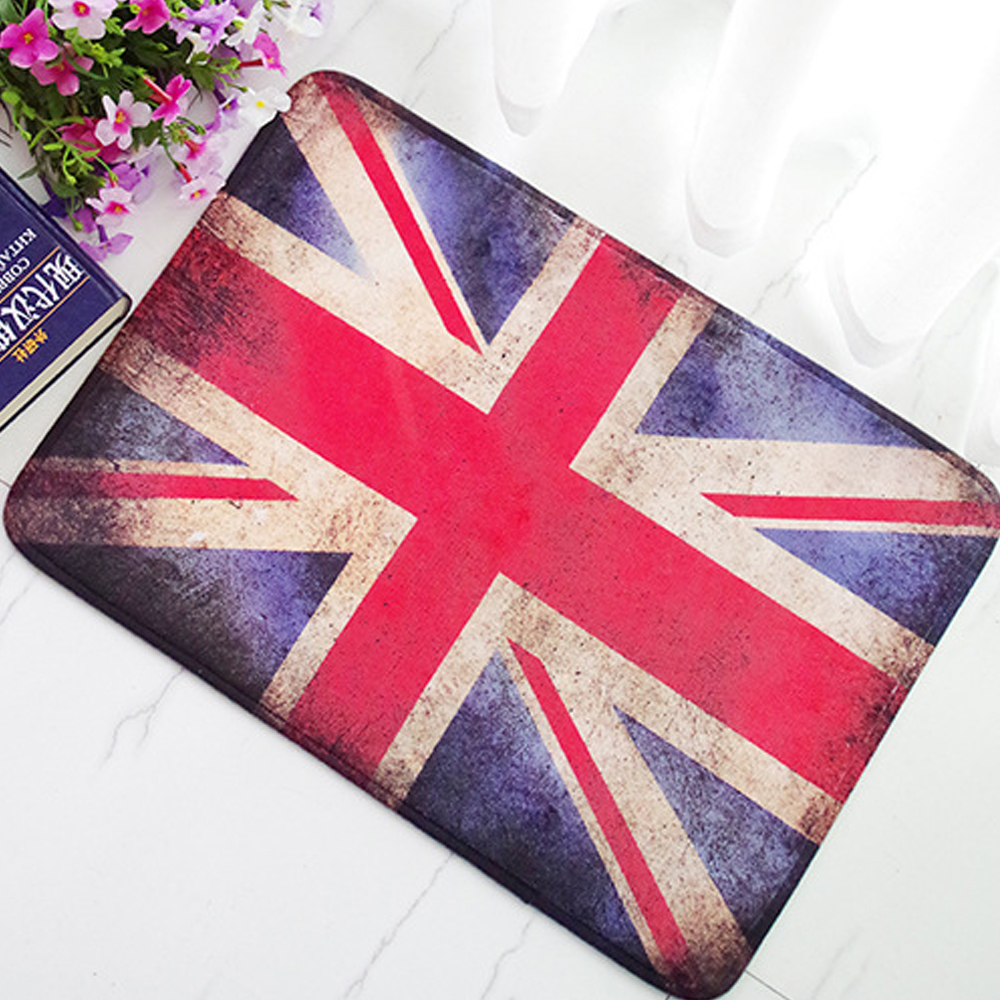 Mdct 40 60cm Us Uk Flag Printed Area Rugs Door Mats Indoor Outdoor Parlor Hallway Floor Welcome Floormats Non Slip Tapete