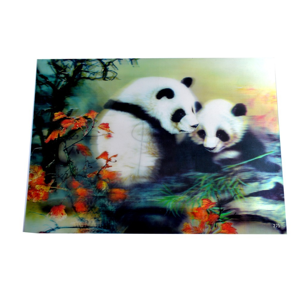 Efek 3d Plastik Gambar Hiasan Dinding Poster Panda J2035 A882 Karpet Rumah 180 X 250 Ungu