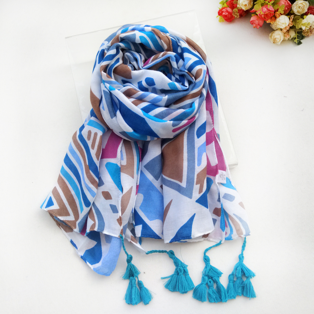 New Colorful Women Scarf Tassels Thin Lady 39 s Summer Shawl Long Fashion Print Hijab Scarf Luxury Brand Casual Scarves Women in Women 39 s Scarves from Apparel Accessories