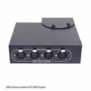Image 4 - DMX Splitter 4 Kanal Optik İzole DMX512 Denetleyici 4 Yollu Dmx Distribütör ve Kanca KTV Sahne Işığı sinyal amplifikatörü