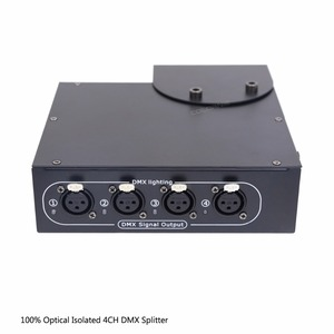 Image 4 - DMX Splitter 4 ช่อง Optical แยก DMX512 Controller 4 Way Dmx จำหน่ายและตะขอสำหรับ KTV Stage ไฟสัญญาณเครื่องขยายเสียง