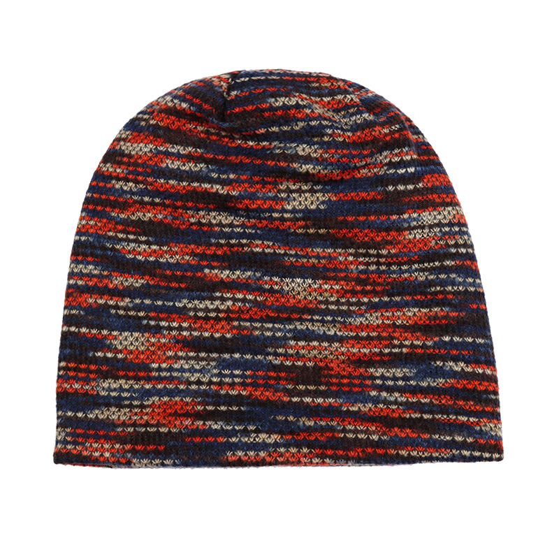 Xlamulu Knitted Hat Winter Hats For Women Men Skullies Beanies Mask Striped Beanie Gorros Bonnet Warm Baggy Soft Thick Hat Caps 3