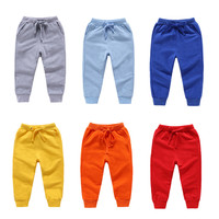 2018 Spring Children Trousers Kids Casual Solid Pants Hot Autumn Sport Long Pants for Boys Girls 1 8T Child Joggers Sweatpants