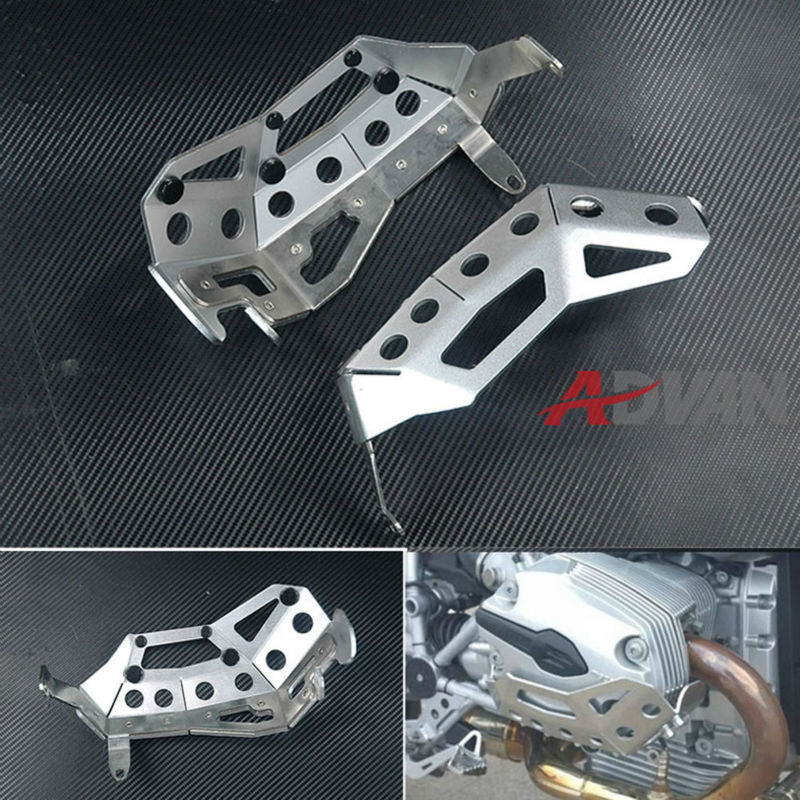 FREE SHIPPING  Cylinder Head Guards Protector Cover Silver Fit for BMW R1200GS / RT, up to 2009 free shipping silver l