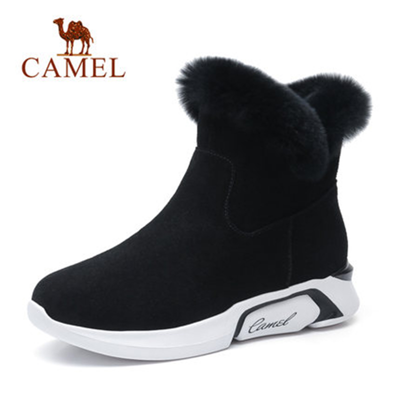 CAME   Ankle Furry Snow Boots Shoes 2018 Winter Leisure Snow Boots Shoes Women Plus Velvet Non slip Shoes For Ladies-in Ankle Boots from Shoes    1