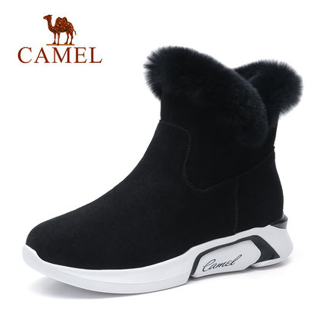 CAME   Ankle Furry Snow Boots Shoes 2018 Winter Leisure Snow Boots Shoes Women Plus Velvet Non-slip Shoes For Ladies