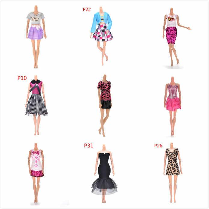 Разноцветные элегантные вечерние платья ручной работы для кукол, Цветочная Одежда для кукол, одежда или Хрустальная обувь, аксессуары для кукол