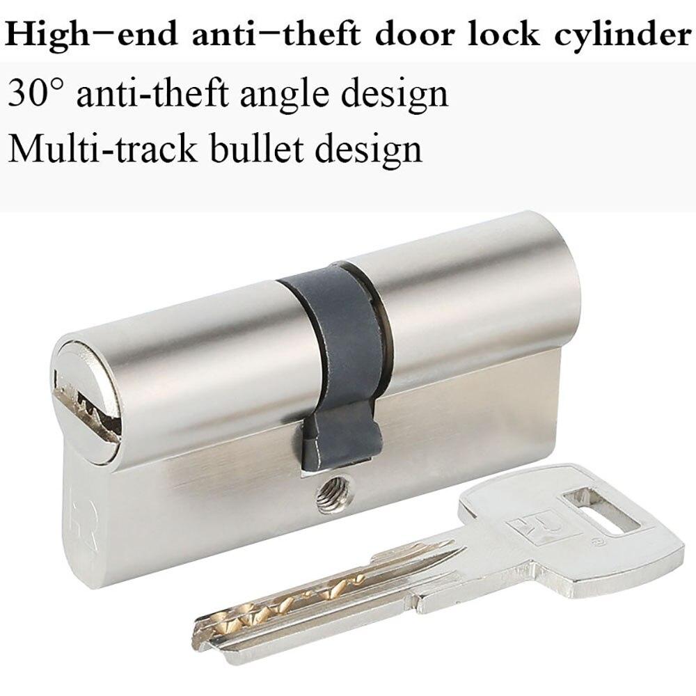 Cylindre de porte sécurisé à Double goupille rainure Serpentine serrure biaisée 65 75 85 95 120mm cylindre AB clé entrée serrure de porte en laiton