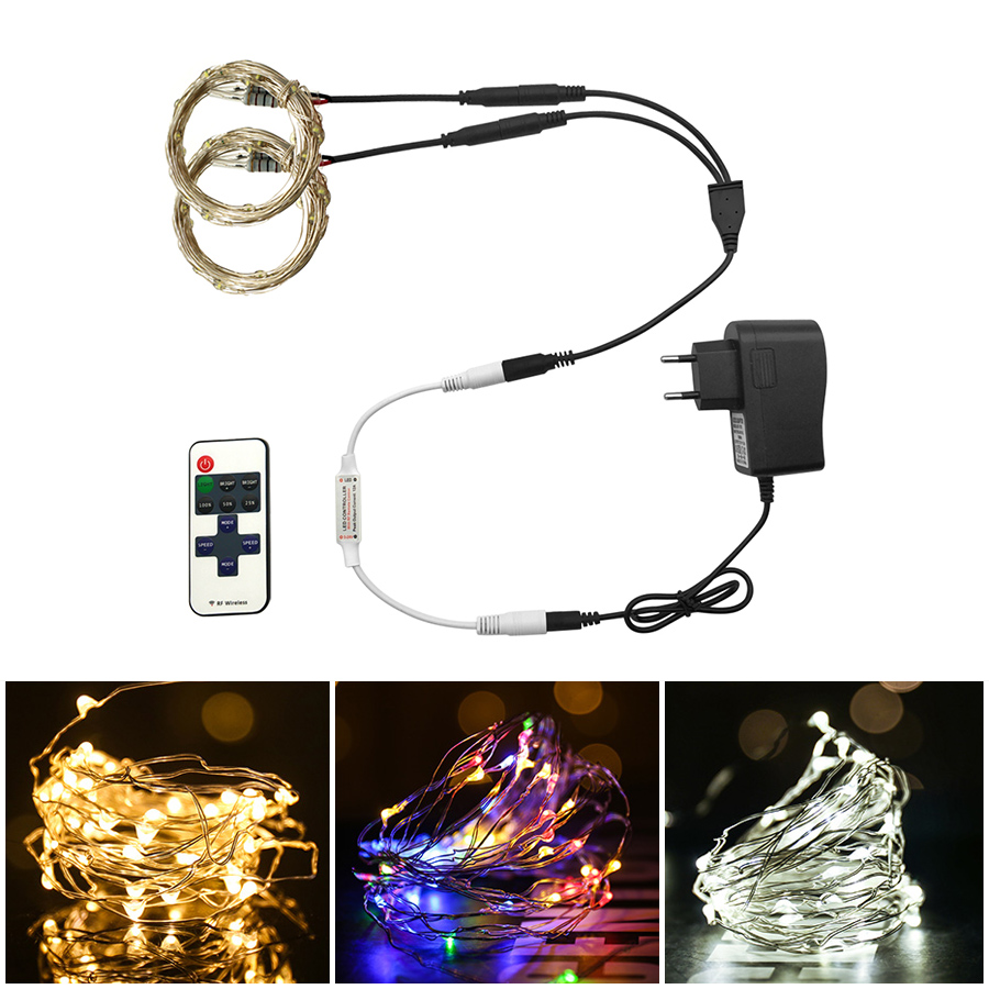 Led Strings Led Fairy Light DC 12V Copper Wire 5m-80m LED String Holiday Lighting Fairy Garland Outdoor Light For Christmas Tree