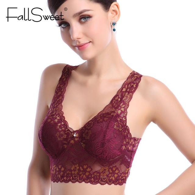 Women Sexy Seamless Lace Bra, Woman No Rims wire free Underwear  Bra Crop Top Vest Sleeping Lingerie Brassiere