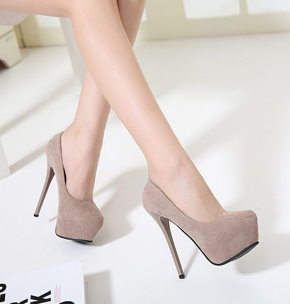 14cm High Heeled Shoes Nightclub Sexy Thin Heels Round Toe Party Platform Heels 2017 Fashion Pumps Sy-2216