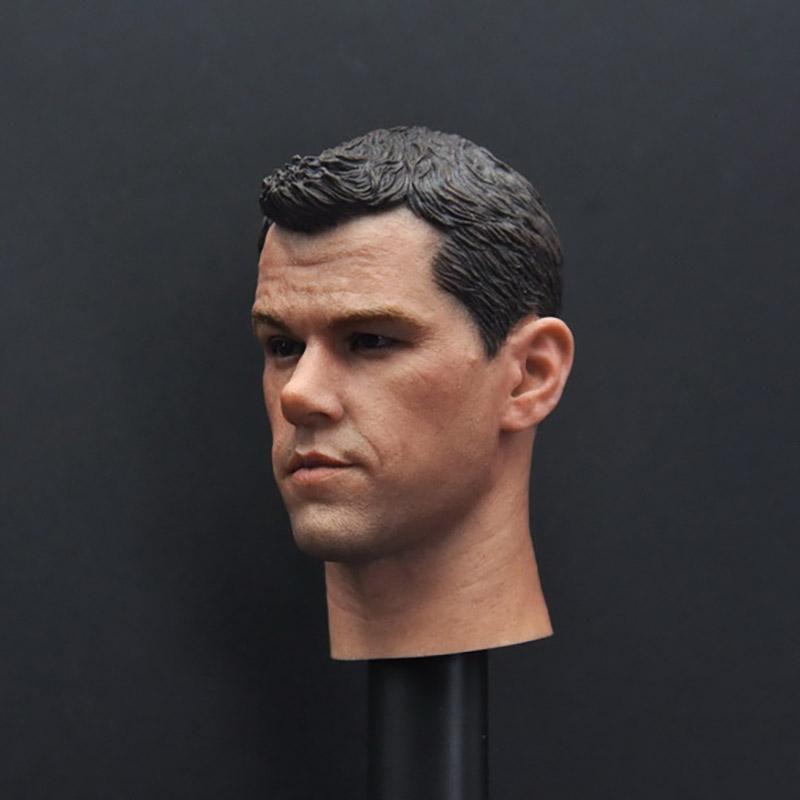 Custom 1//6 Scale Matt Damon Head Sculpt For Hot Toys Body