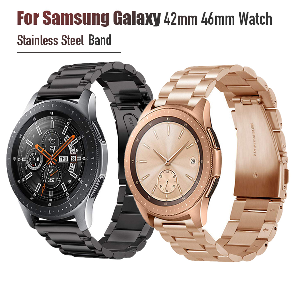 Gear <font><b>S3</b></font>/Galaxy Watch 42mm 46mm watch Band,20mm 22mm Stainless Steel Strap Bands for <font><b>Samsung</b></font> Galaxy 42mm 46mm Gear <font><b>S3</b></font> <font><b>Smartwatch</b></font> image