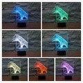 Free transporte multi-colorido mood lamp iluminação dragão garra garra dinosaur 3d luz conduzida da noite lâmpada de iluminação decorativa do feriado