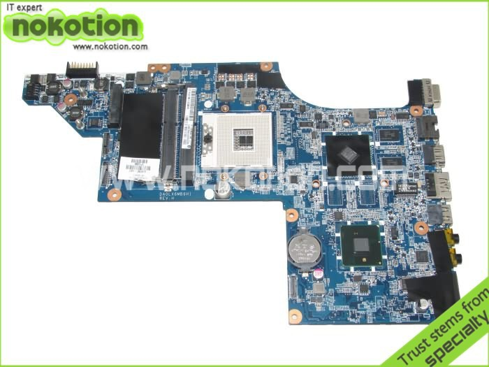 NOKOTION laptop motherboard for hp pavilion DV7 DV7-4000 609787-001 DA0LX6MB6H1 intel hm55 ATI 216-0774007 ddr3 high quality laptop motherboard fit for hp pavilion dv7 4000 dv7 4100 laptop motherboard 615688 001 100