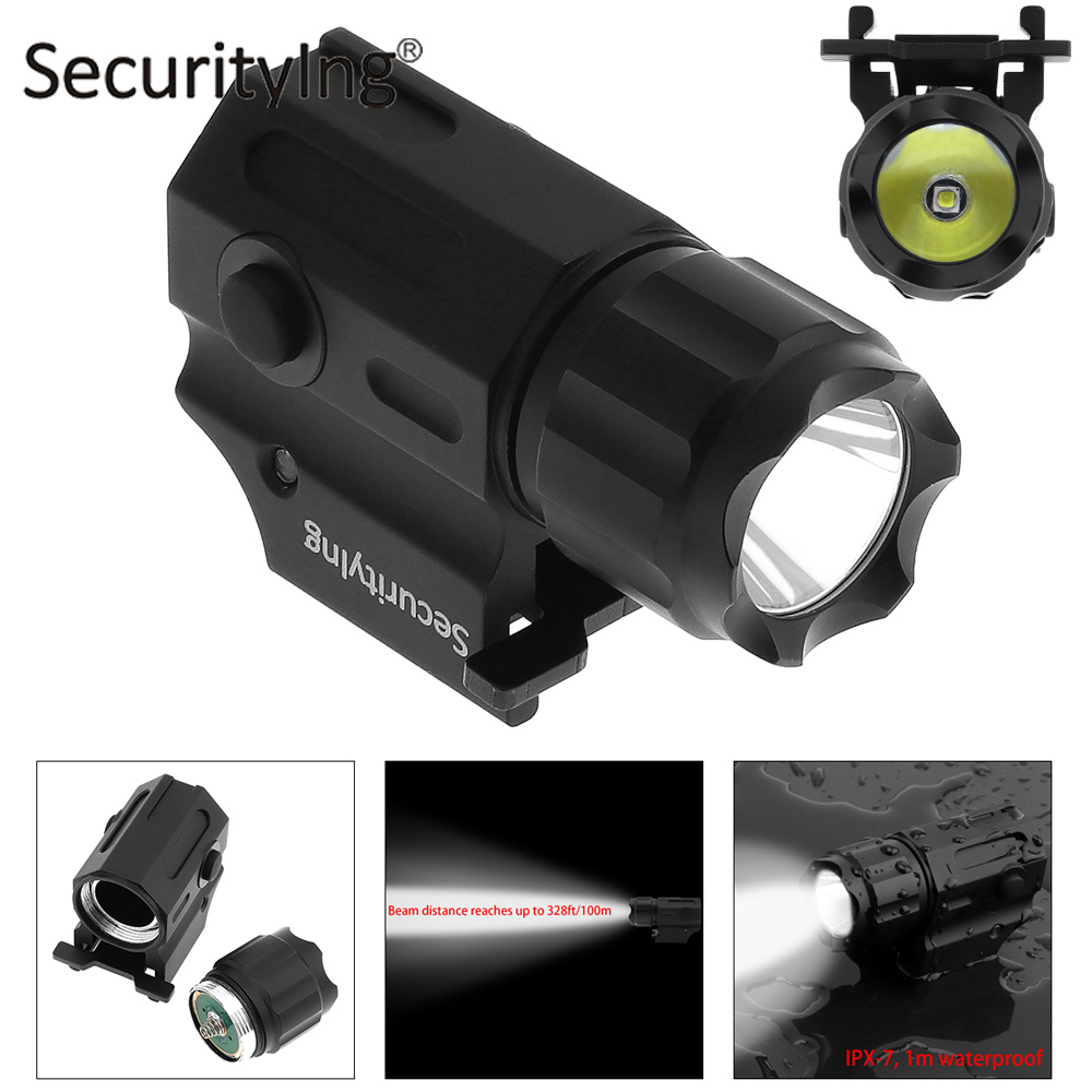 SecurityIng Waterproof XP-G R5 LED Tactical Flashlight Military Weapon Lights 2 Mode Mini Handheld Pistol Torch Lamp Flash Light 1 stainless steel electric solenoid valve normally closed 2s series stainless steel water solenoid valve