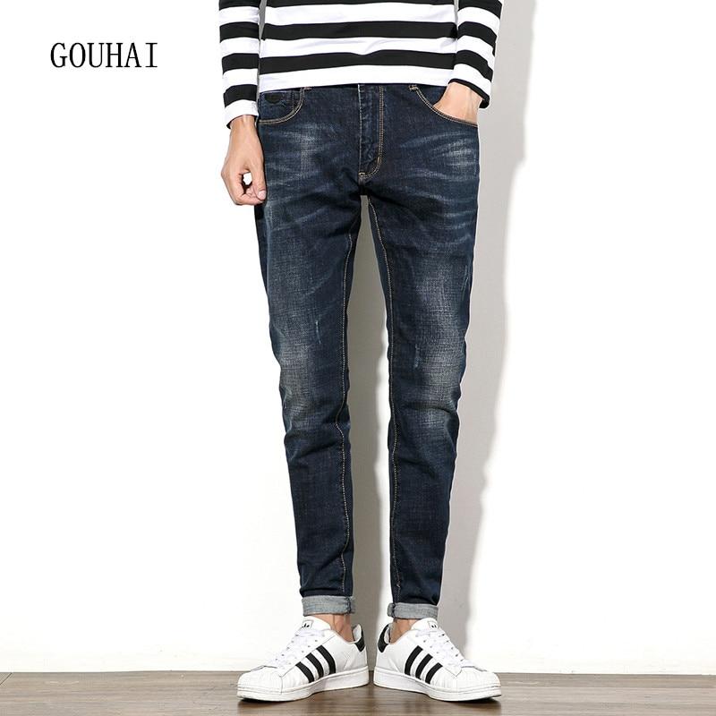 Mens Denim Jean Cotton Pants Blue Men Jeans High Quality Plus Size 2016 Autumn Winter Men Denim Trousers Slim Jeans Pants