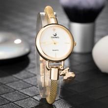 Zonmfei Womens popular bracelet smart watches Fashion Jewelry Pedant chain wristwatches lovely girl dress clock top hot design