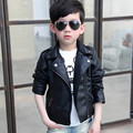 Baby boys motorcycle Pocket stand collar jackets kids faux leather toddler autumn winter child boy jacket enfant coat abrigos