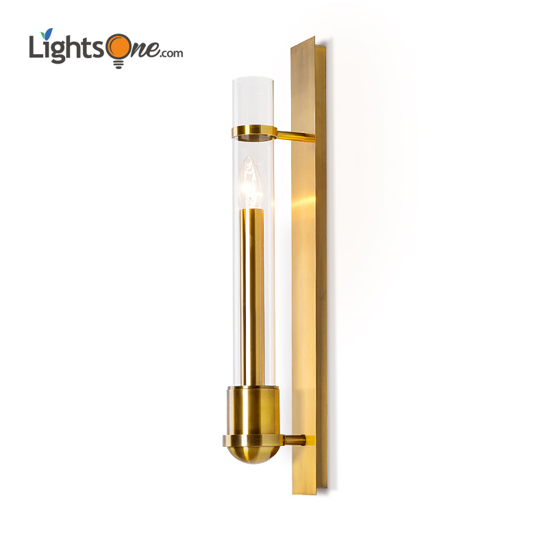 Living Room Lobby Wall light Background Modern minimalist glass staircase wall lamp