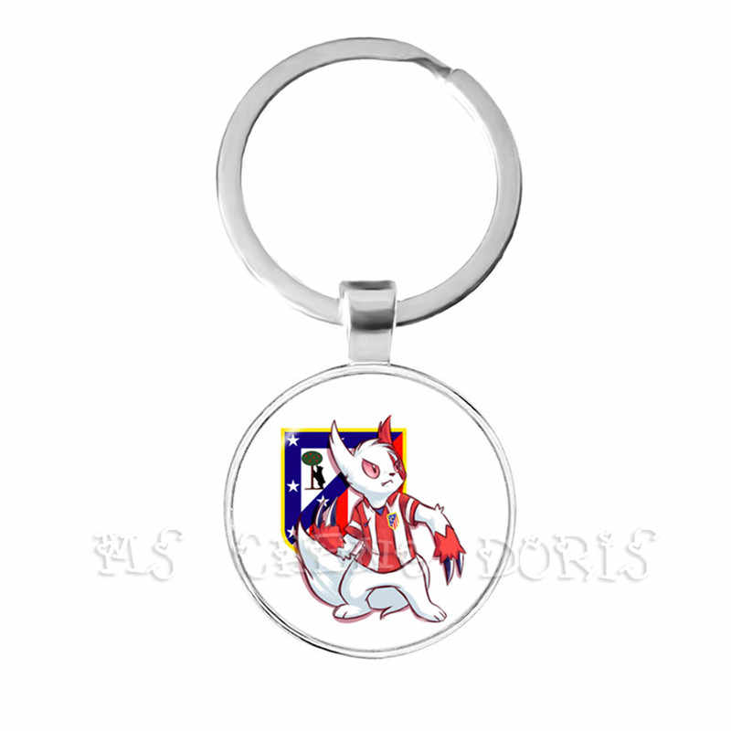 Paris Saint-Germain Football Club Ligue 1 Football PSG Team Logo Glass Dome  Key Chain For Football Fans' Commemorative Gift