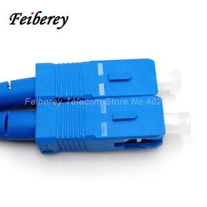Image 3 - 200 metre Fiber optik saplama kablo SC/UPC Singlemode Simplex kelebek şekli açık uzun mesafe üçlü çelik tel optik kablo