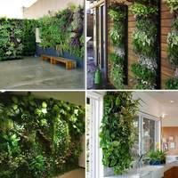 Лидер продаж 7 кашпо С Карманами Настенный вертикальный подвесной сад для хранения растений двор домашний декор LSK99